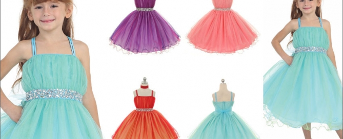 Double Spaghetti Strap Tulle Dress with Bead Accents