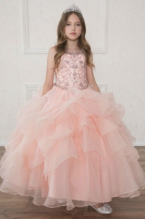 2018 Pageant Dress Style SY124 Blush