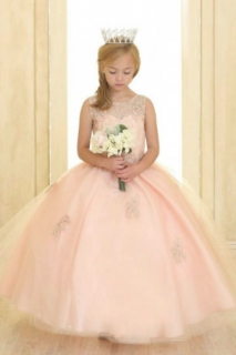 2018 Pageant Dress Style SY117 Blush Pink