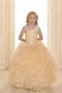 2018 Pageant Dress Style NP062 Gold