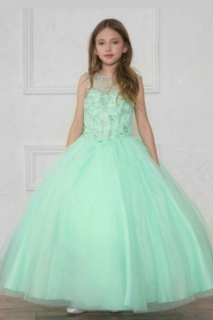 2018 Pageant Dress Style KY201 Mint