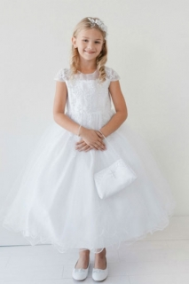 2018 Communion Dress Style 5695 White
