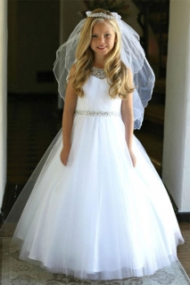 2018 Communion Dress Style DR5248 White