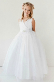 2018 Communion Dress Style 5698 White Tulle