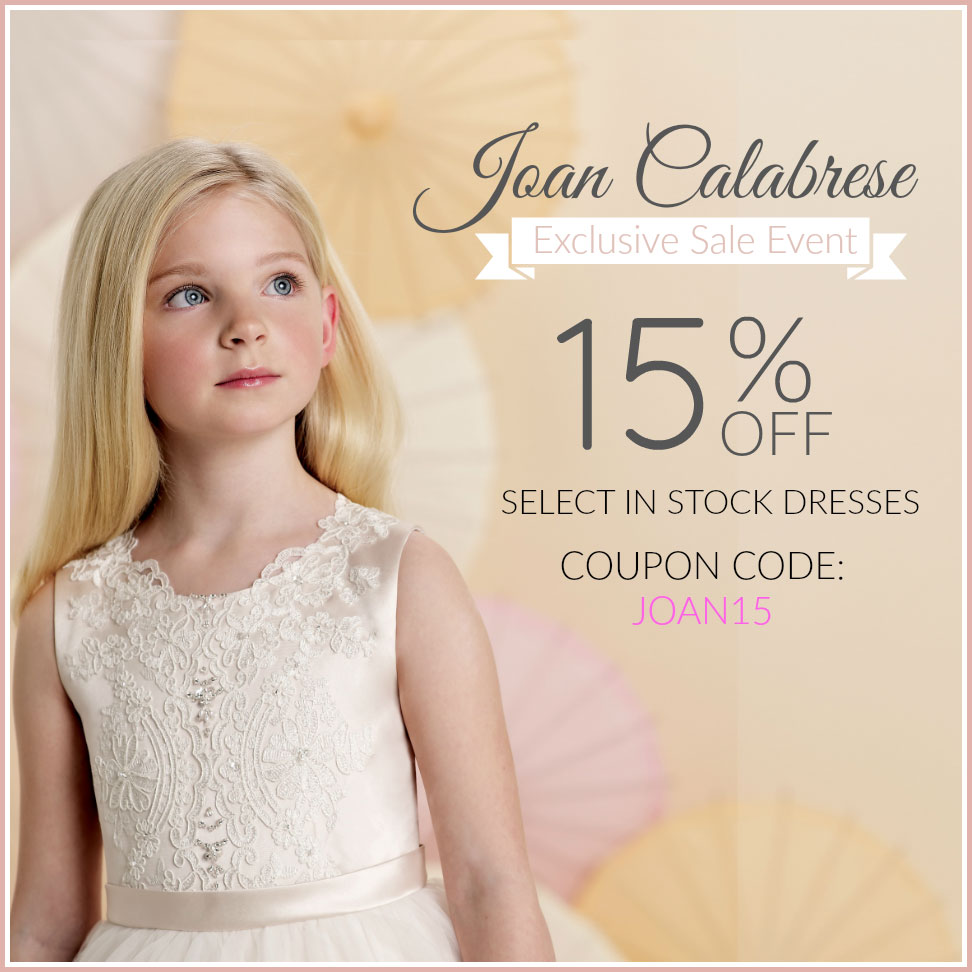Take 15% off selected in stock Joan Calabrese dresses!