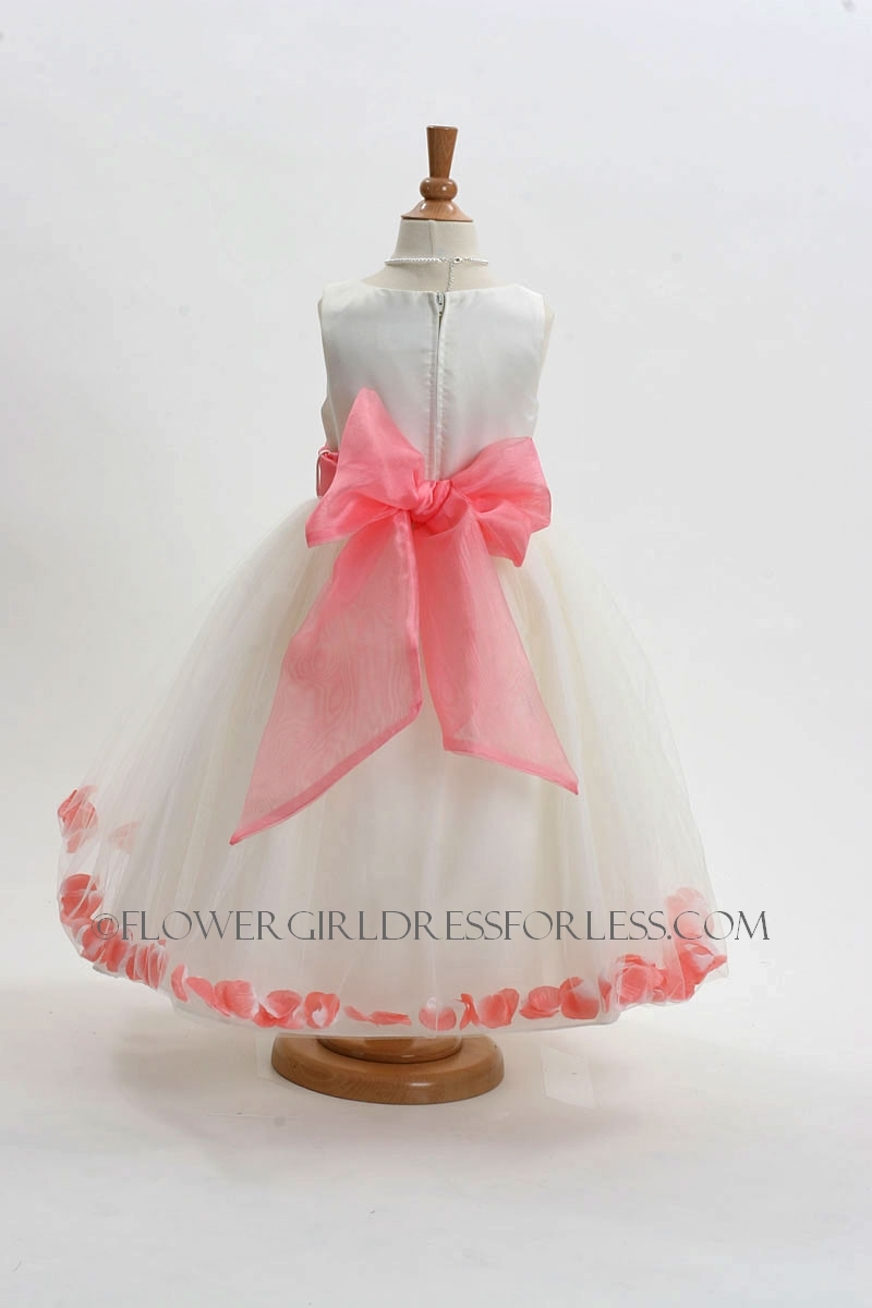 Mb152ico Flower Girl Dress Style 152 Choice Of White Or Ivory