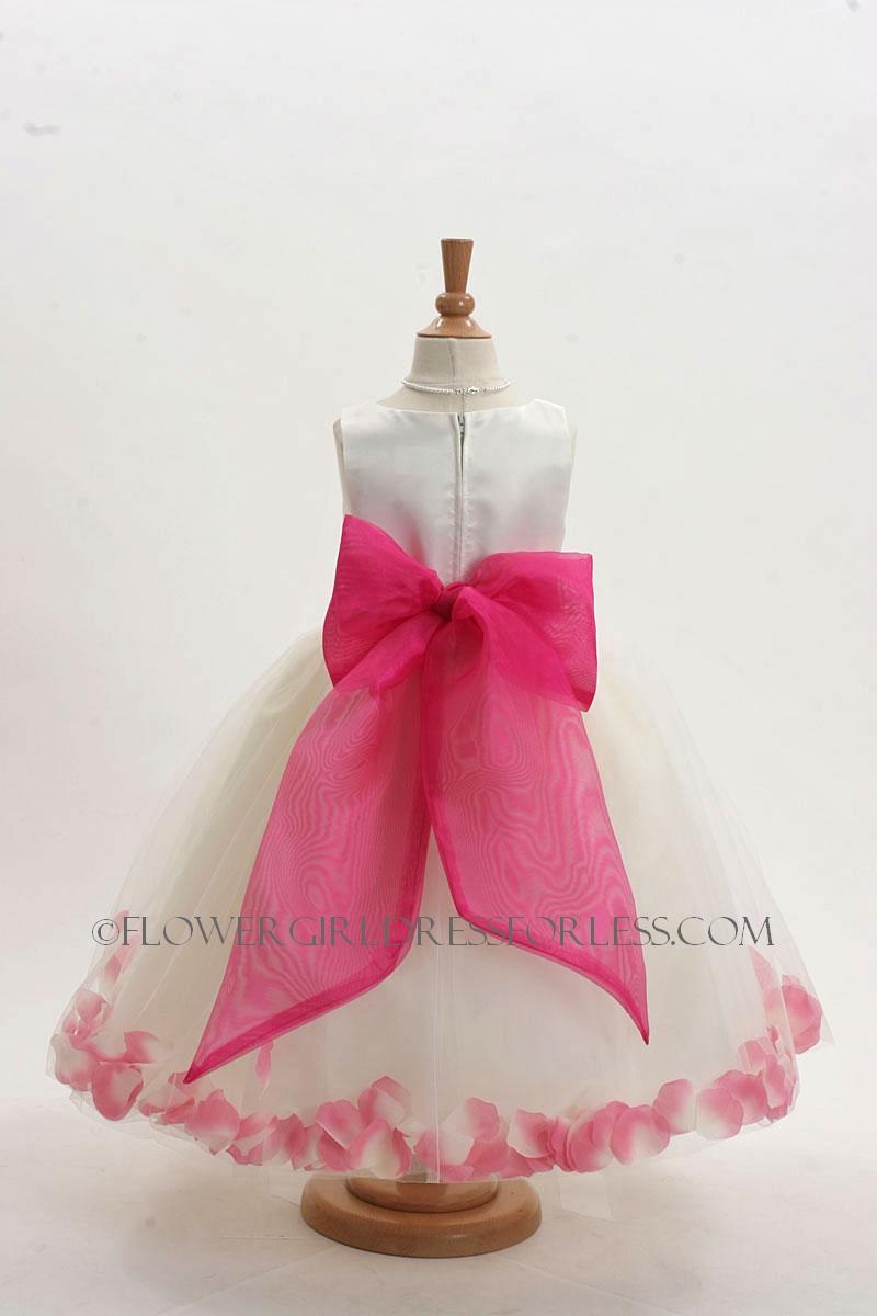 Hot Pink Flower Girl Dress With Black Sash Wedding Dresses In Redlands