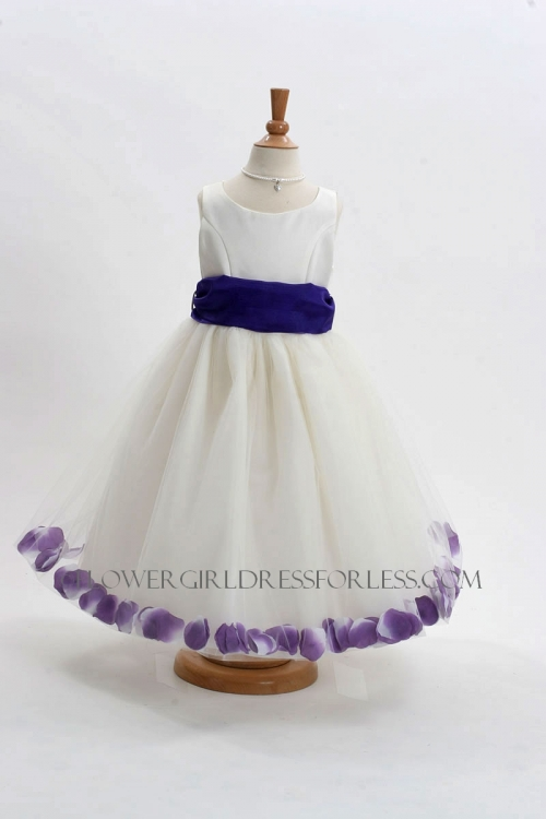 Mb152ipur Flower Girl Dress Style 152 Choice Of White Or Ivory