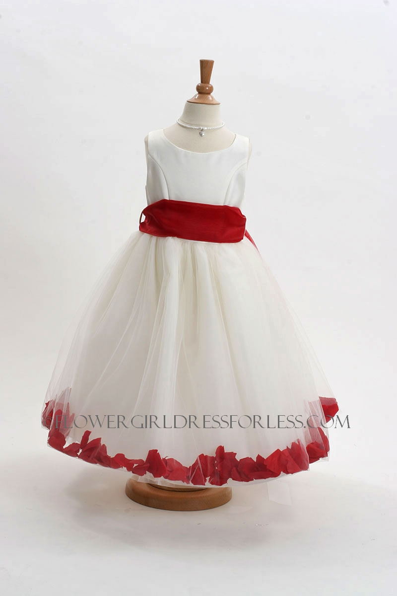 152IR - Flower Girl Dress Style 152-Choice of White or Ivory Dress ...