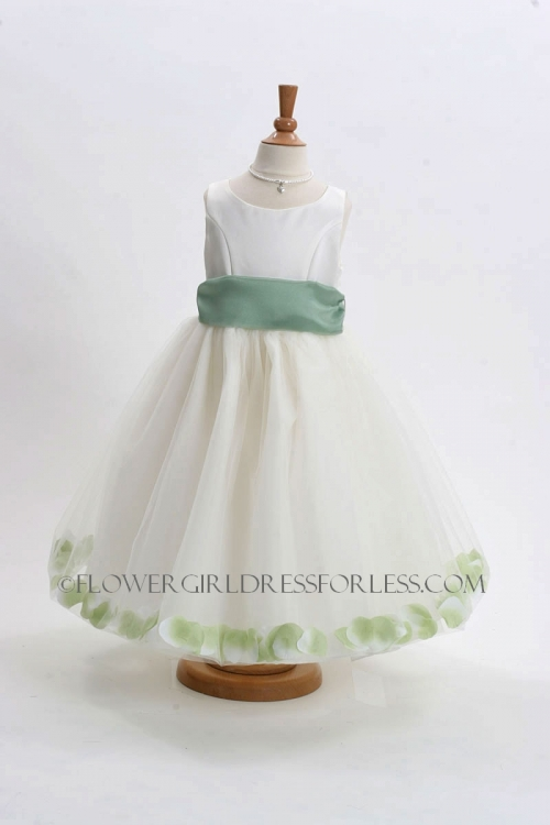 Mb152isg flower girl dress style 152 choice of white or ivory flower girl dress style 152 choice of white or ivory dress with sage green sash mightylinksfo