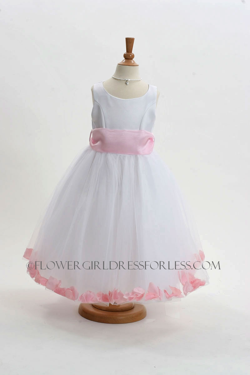 152wlp Flower Girl Dress Style 152 Choice Of White Or Ivory Dress