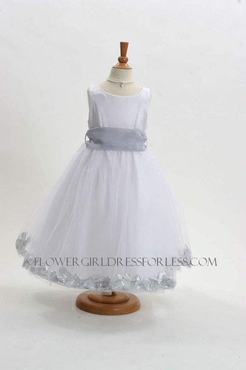 152wsv flower girl dress style 152 choice of white or ivory dress flower girl dress style 152 choice of white or ivory dress with silver sash and mightylinksfo