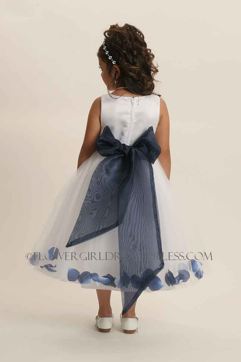 152wnv flower girl dress style 152 choice of white or ivory dress 152wnv flower girl dress style 152 choice of white or ivory dress with navy sash and petals blue all shades flower girl dresses flower girl dress izmirmasajfo