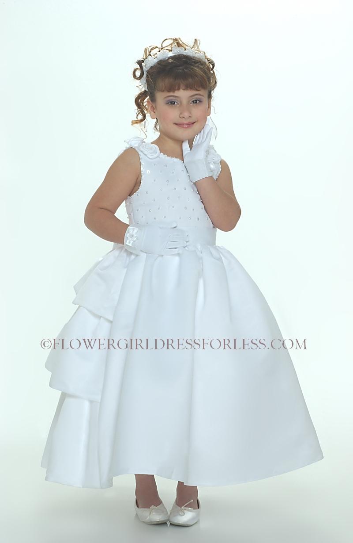 SP_158W - Flower Girl Dress Style 158-Sleeveless Satin Bridal Style ...