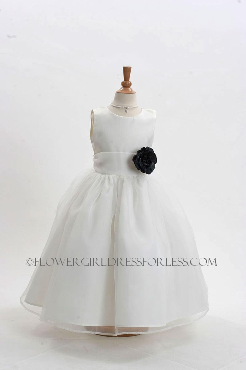 2021ivb Flower Girl Dress Style 2021 Ivory Dress With 3 Black