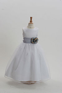 Silver grays flower girl dresses flower girl dress for less flower girl dress style 5378 build your own dress choice of 120 sash and mightylinksfo Gallery