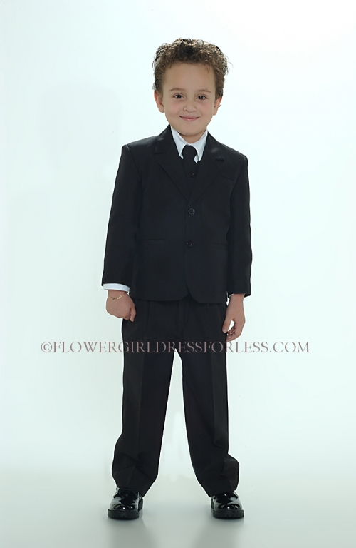 8a1594304 TT_4005B - Boys 5 piece Suit 2 Button Style 4005- BLACK COLOR - Tip Top Kids  - Flower Girl Dresses - Flower Girl Dress For Less