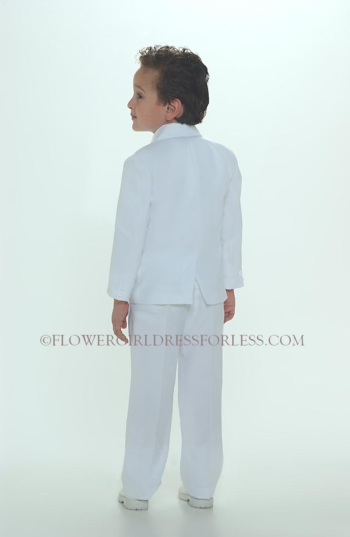 TT_4005W - Boys 5 piece Suit 2 Button Style 4005- WHITE COLOR - Boys ...