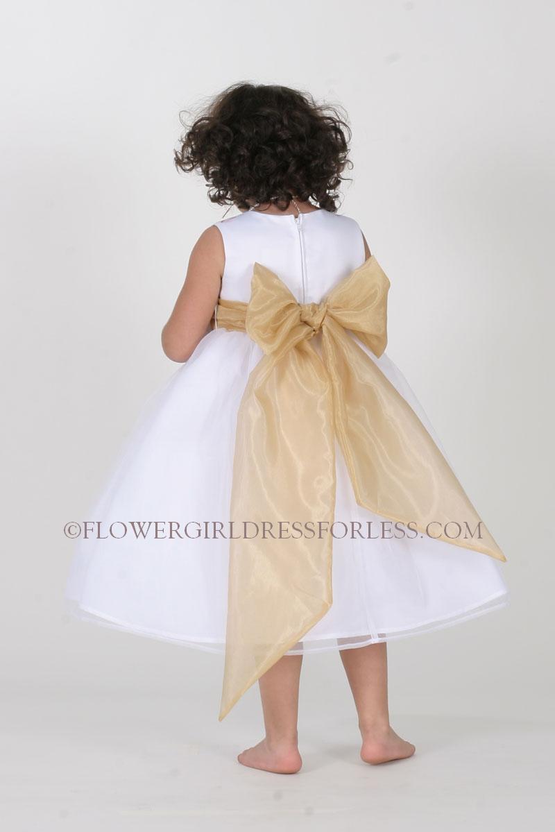 gold flower girl dresses online shopping