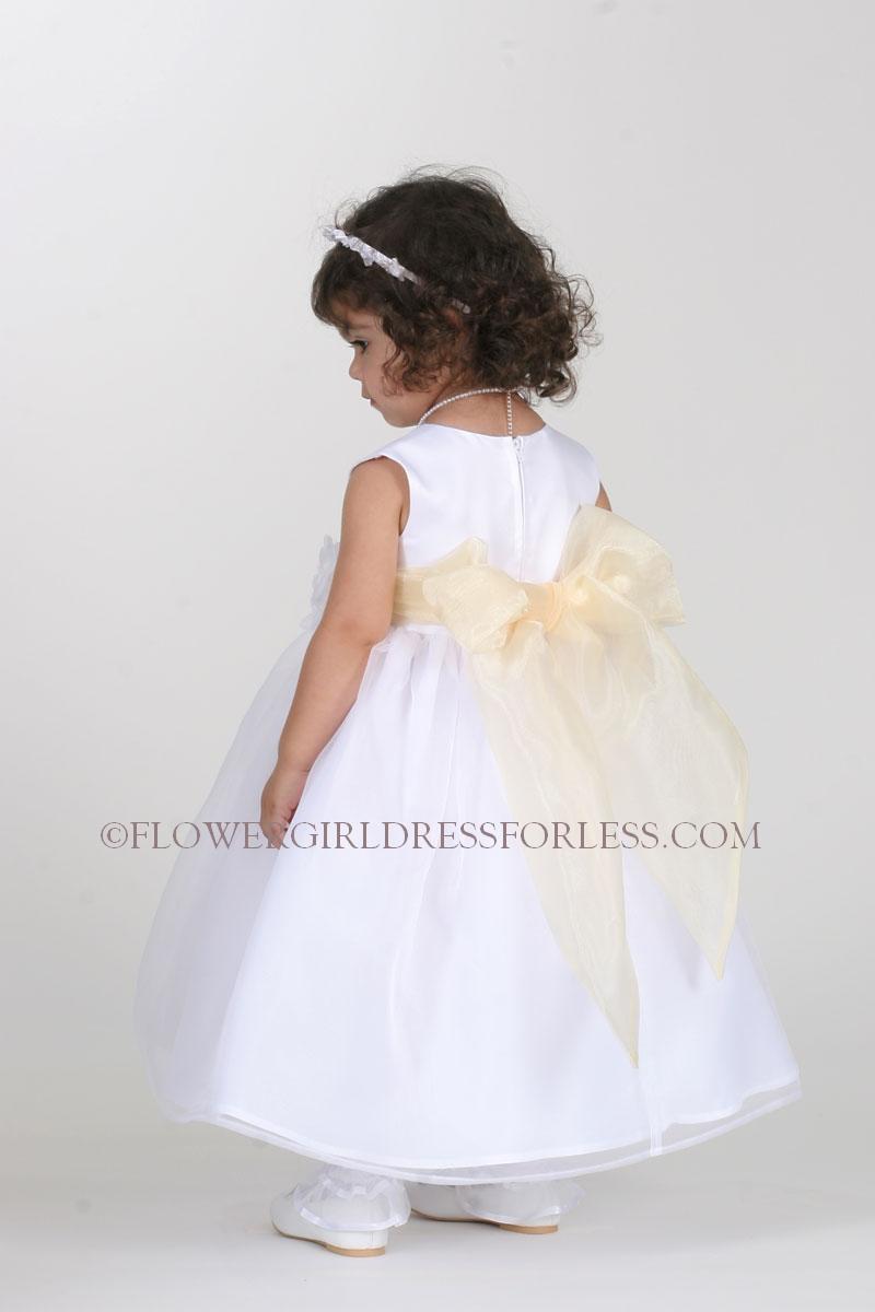 Tt5378 Py Flower Girl Dress Style 5378 Choice Of Ivory Or White