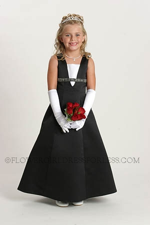 Black Flower Girl Dresses