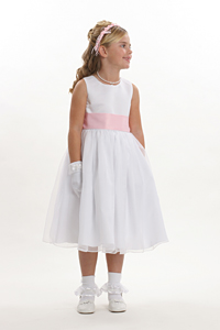 Girls Dress Style 5378-build Your Own Dress- White Or Ivory Dress