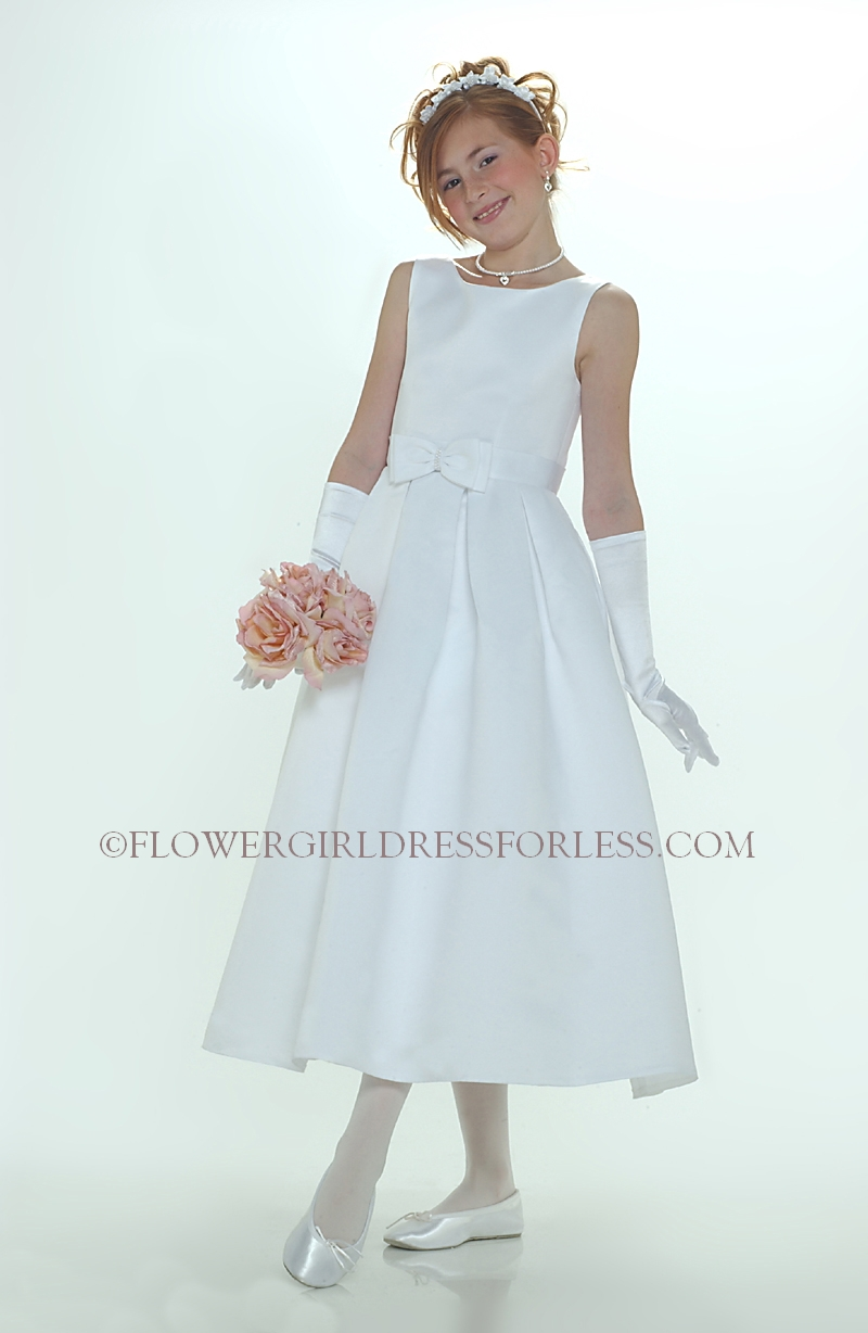Sp547w Flower Girl Dress Style 547 White Or Ivory Sleeveless