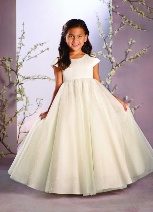 AA_734 - Alfred Angelo Girls Dress Style 734 - Cap Sleeve Tulle ...