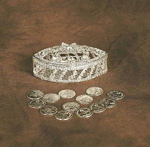 Ag Ar1782sv Wedding Arras Style Ar1782sv Silver Set