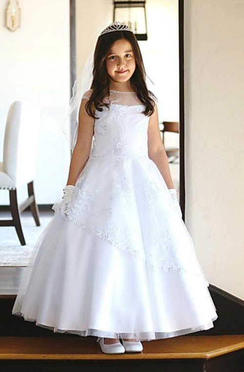 Agdr1579 Communion Flower Girls Dress Style Dr1579 White Dress