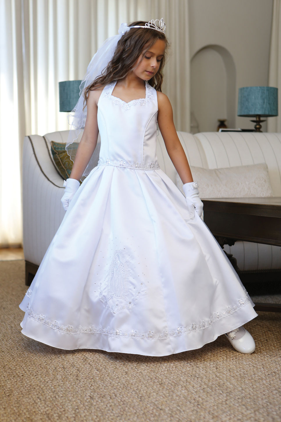 Virgin Mary Communion Dresses Flower Girl Dresses Flower Girl