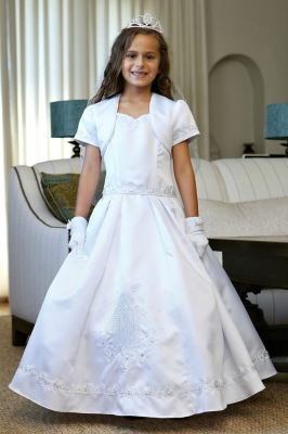 girls dress style dr1630 our lady of guadalupe embroidered dress