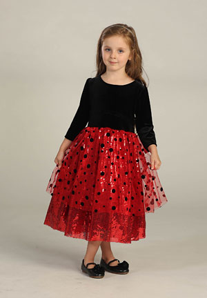 Ag Dr3001 3002 Flower Girl Dress Style Dr3001 3002 Red