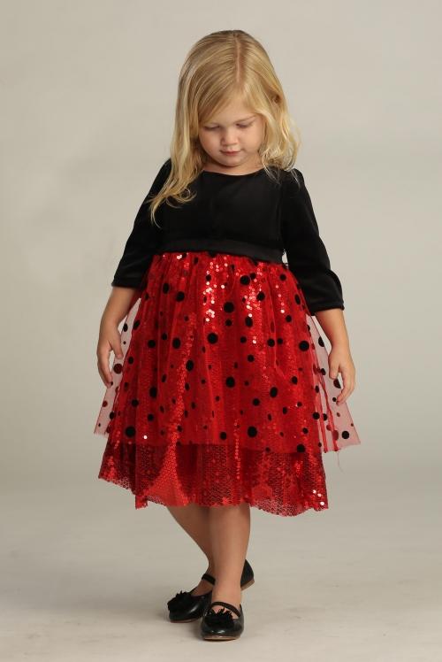 Agdr30013002b Flower Girl Dress Style Dr30013002 Red Black