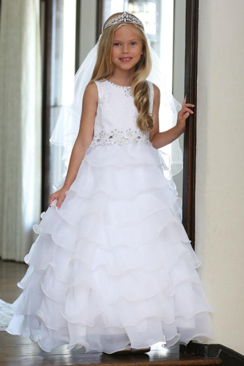 Ag Dr5201 Girls Dress Style Dr5201 Lace And Organza