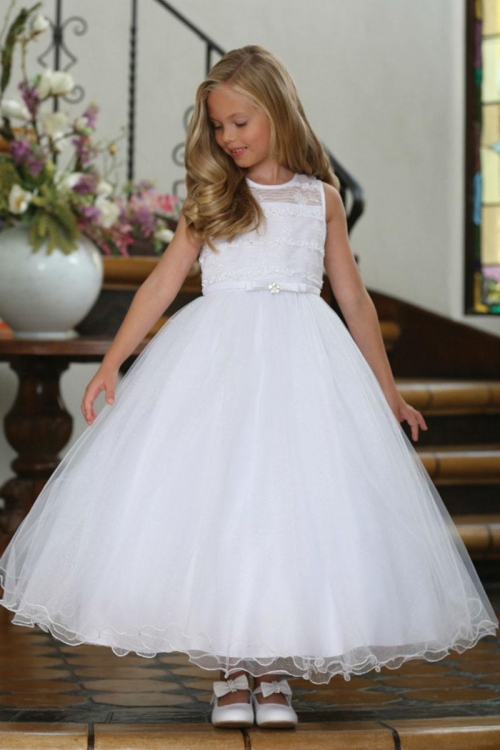 b84802d84c5 AG DR5233 - Girls Dress Style DR5233- White Illusion with Sparkle Skirt  Dress with Matching Bolero - All First Communion Dresses - Flower Girl  Dresses ...