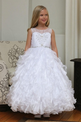 3e22f58b67f Girls Dress Style DR5237- Beaded Organza Ruffle Dress with Jacket in Choice  of Color