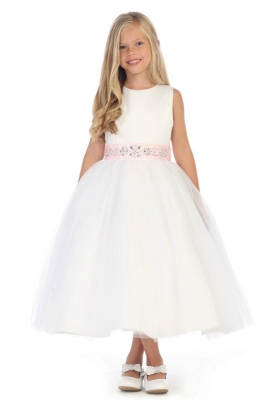 Rose flower girl dresses flower girl dress for less girls dress style dr5239 satin and tulle dress in choice of color on dress and mightylinksfo