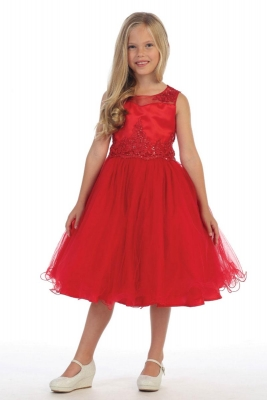 0a5f306c45c Girls Dress Style DR5244- Gorgeous Beaded Tulle Short Dress in Choice of  Color