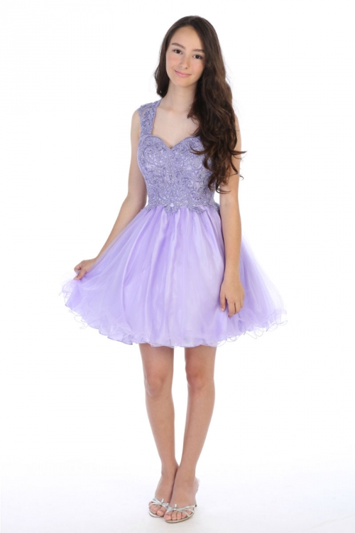 AG DR5266XL - Girls Teen Dress Style DR5266X - LILAC Short Beaded Illusion  Neckline Party Dress - Lilac - Flower Girl Dresses - Flower Girl Dress For  Less 5c7275d98aec