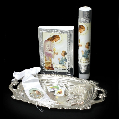 Ag Sfc7507 Boy First Holy Communion Boy Candle Gift Set Style