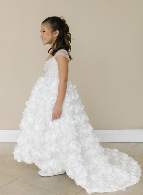 AM_FG128 - Designer Amalee Girls Dress Style FG128- Sleeveless Bead ...