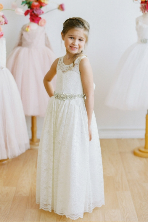 4c52edf324 Designer Amalee Girls Dress Style FG132B - All Lace with Beaded Waist Dress  in Choice of