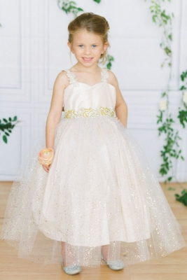 18fc7a64bcb Designer Amalee Girls Dress Style FG156 - Sparkle Princess Ball Gown in Choice  of Color