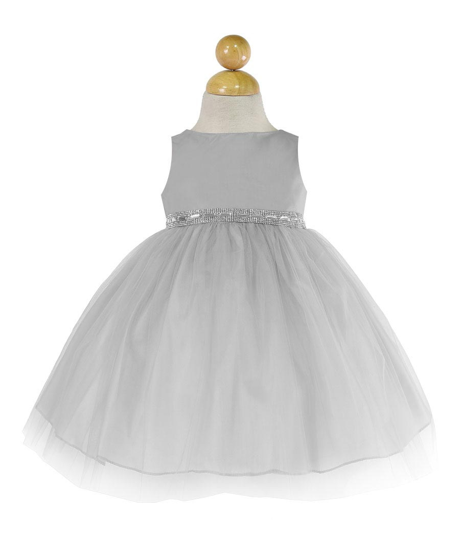 Cinderella Couture Baby Girls Pink White Polka Dot Belted: Girls Dress Style B754