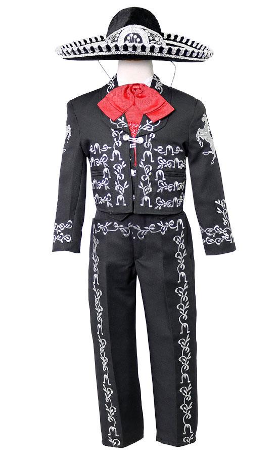 f166c1fec7 CA CHARRO-BSV - Boys Suit Style CHARRO - BLACK-SILVER- Boys Charro ...