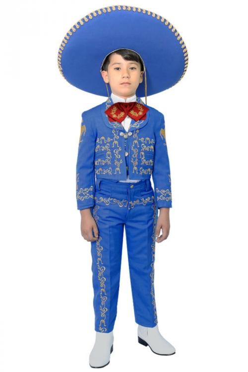 CA_CHARRO-RYGD - Boys Suit Style CHARRO - ROYAL BLUE-GOLD- Boys ...