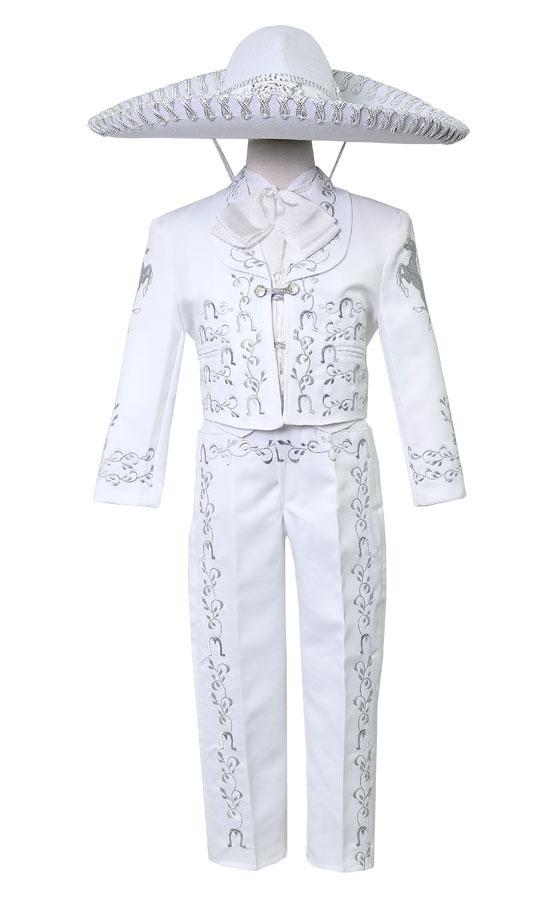 b8ef4262af CA CHARRO-WSV - Boys Suit Style CHARRO - WHITE-SILVER- Boys Charro ...