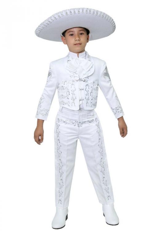CA_CHARRO-WSV - Boys Suit Style CHARRO - WHITE-SILVER- Boys Charro ...