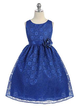 Ca D749ry Girls Dress Style D749 Royal Blue Sleeveless